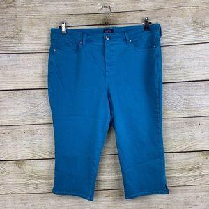NYDJ Long Bermuda Blue Stretchy Plus Size Shorts